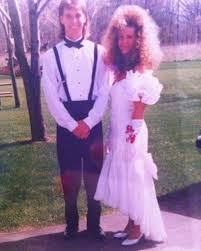 eighties prom poodle date 80s prom 80s prom