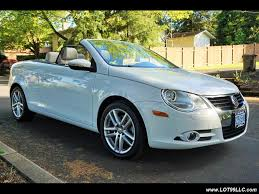 volkswagen convertible eos white 2009 volkswagen eos lux hardtop convertible 90k 1 owner for sale