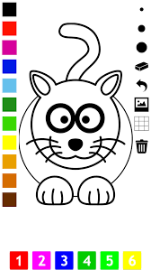 coloring book children learn draw color cat