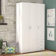 white armoires u0026 wardrobes you u0027ll love wayfair