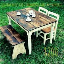 little tea table set children s table set love the gray and wood grain furniture