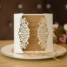 wedding invitation cards formal white laser cut wedding invitation cards with band swws009