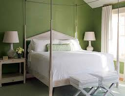 simple relaxing colors for bedrooms with green paint walls also