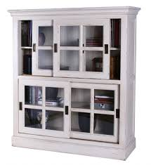 Oak Bookcases With Doors by Antique Oak Bookcase With Leaded Glass Doors Bookcase With Sliding