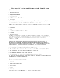Sample Health Care Aide Resume by Etas Mcq 14 Plants And Creatures Of Dermatologic Significance
