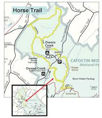 Pennsylvania State Parks Map by Horse Trails Catoctin Mountain Park U S National Park Service