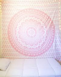 sparkly pink rose gold mandala tapestry u2013 the bohemian shop