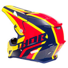 thor helmet motocross thor helmet sector ricochet navy yellow 2018 maciag offroad