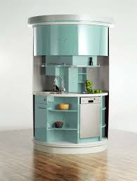 delightful turquois color small kitchen cabinets with double door