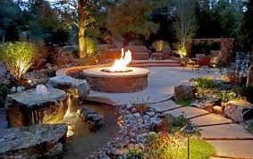 Rustic Firepit Rustic Pit From Mile High Landscaping Flagstone Patio