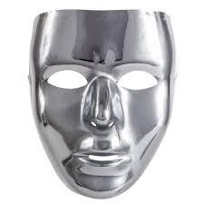 silver mask silver metallic masquerade mask delights direct