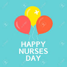 nurses day balloons happy nurses day poster international nurses day symbol with