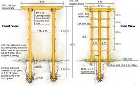 wedding arch blueprints build a sturdy arbor finegardening
