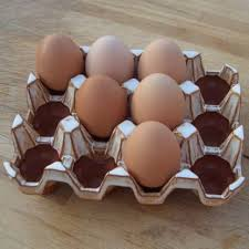 ceramic egg tray 12 ceramic egg holder 12 glazed weston mill pottery uk