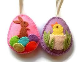 Easter Decorations Singapore by Felt Easter Eggs Etsy
