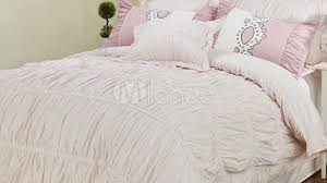 sweet light pink 3 piece cotton duvet cover sets milanoo with
