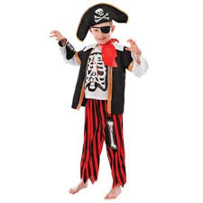 Halloween Costume Skeleton Childs Pirate Skeleton Fancy Dress U0026 Halloween Costume Age 6 9