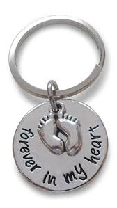 baby keychain forever in my heart keychain with baby charm new