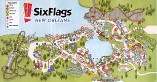 Map New Orleans by Theme Park Brochures Six Flags New Orleans Theme Park Brochures