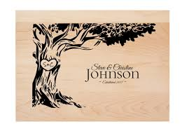 anniversary engraving personalized tree initials anniversary engraving