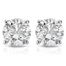 earrings brand certified brand new 3 00 ct h si2 enhanced diamond stud earrings in 14