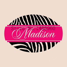 personalized zebra print wall decals wall murals you ll love por zebra print wall decal