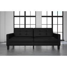 grandview faux leather futon wayfair