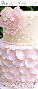 wedding cake decoration fondant petal cake a cake decorating tutorial cake