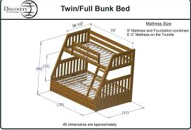 Plans For Bunk Beds Twin Over Full by Discovery World Furniture Twin Over Full White Mission Bunk Bed