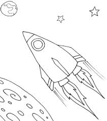spaceship coloring page free printable pages for kids coloring pages