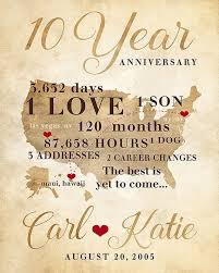 10 year anniversary gifts for husband anniversary gifts for men 20th anniversary gift for him or