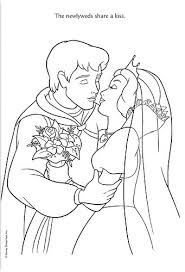 snow white wedding coloring pages gallery tube