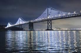 Bay Bridge Lights Illuminated Bay Bridge In San Francisco The Bay Lights Is An