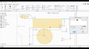 creo tutorial 1 2d sketch basics youtube