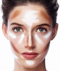 brown dots representing contour sections white lines representing highlight sections lines will show you exactly lift lips with a touch of hightlight at the