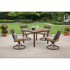 Patio Dining Sets Walmart Better Homes And Gardens Lynnhaven Park 5 Patio Dining Set