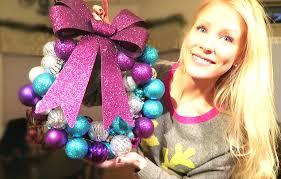 dollar store christmas ornament wreath so easy youtube