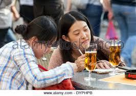 Summer Garden Bar - tourists in the city center rest in a summer garden bar naplavka