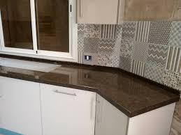 marbre de cuisine cuisine en forme de u