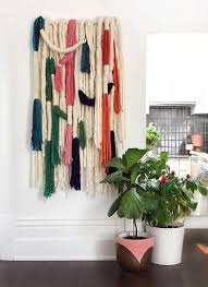 diy tutorial wrapped wool wall hanging we are scout