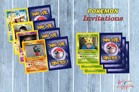 Birthday Cards Invitation Latest Trend Of Pokemon Card Invitations 55 With Additional 50th