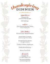 Thanksgiving Dinner Menu Template Free Printable Thanksgiving Menu And Place Cards Party Idea Pros