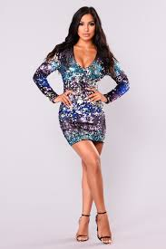 loving sequin dress purple ombre
