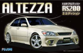 toyota altezza jdm fujimi toyota altezza rs200 z edition 1 24 inch up series no 27