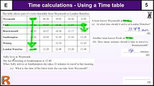 Functional Math Worksheets Time Calculations And Timetables Gcse Maths Foundation Revision