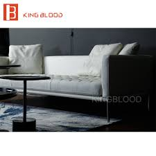 Genuine Leather Furniture Manufacturers White Modern Leather Sofa Promotion Shop For Promotional White
