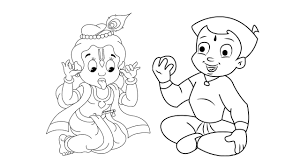 chhota bheem krishna coloring chhota bheem cartoon