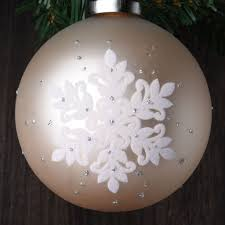 set of 12 frosted snowflake glass ornaments robertson