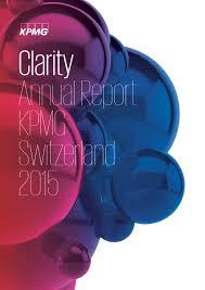 kpmg annual report 2015 by kpmg switzerland issuu