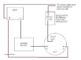 external regulator alternator wiring diagram awesome bosch